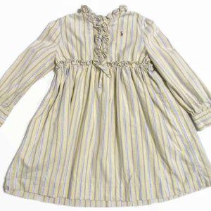 Ralph Lauren Navy Label Stripe Ruffle Dress 6